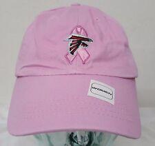 Atlanta Falcons NFL Pink Reebok Adjustable Slouch Hat Cancer Awareness Cap NWT