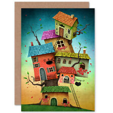 Treehouse Illustration Cute Card With Envelope
