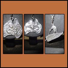 Aussie pewter charms, Kangaroo Koala Australia silver plated necklace