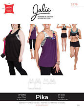 Jalie 3679 Pika Sport Bra & Layered Blouson Tank Top Sewing Pattern Women, Girls