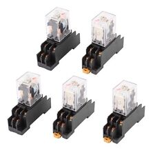 5 X AC 110/120V Coil DPDT 2no 2nc 8 Pin Red LED Power Relay w Socket