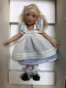 """7.5"""" Helen Kish Vinyl Doll Signed Alice In Wonderland UFDC Ltd. 210 Tulah"""