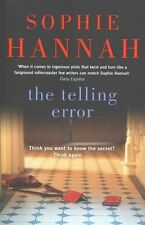 """""""AS NEW"""" The Telling  Error (Culver Valley Crime), Hannah, Sophie, Book"""