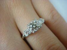 PLATINUM VINTAGE HIGH END ENGAGEMENT RING 0.65 CT T.W. VS-CLARITY