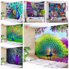 Peacock Feather Art Print Tapestry Hippie Wall Hanging Tapestries Home Decor