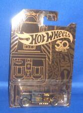 De Collection Hot Wheels Doré 50TH Anniversaire Bone Shaker #1 Of 6, Nouveau