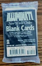Steve Jackson - Illuminati New World Order CCG - Blank Cards Booster Pack *NEW*