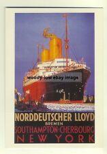 ad2172 - Norddeutscher Lloyd - modern poster advert postcard