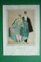 Original Pages Vogue 1924 Art Deco Illustration Charles Martin/P.Woodruff Rare