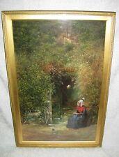 Antique Scottish Gouache Watercolor Painting Robert Frier 19th Century
