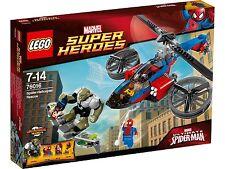 Lego Superhéroes 76016 salvataje emergencias con la Helicóptero de araña