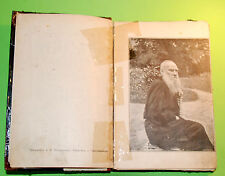 """Vintage """"Leo Tolstoy's Life"""" Imperial Original Russian book 1904's"""
