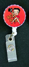 Red BETTY BOOP Retractable ID Badge Reel  Card Holder Key chain ring Security