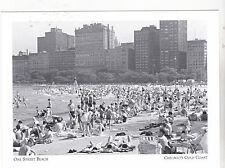 "+PC-Postcard-""Oak Street Beach"" -1960's-Lake Michigan-Chicago's Coast (#90)"