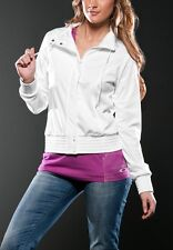 Women's Oakley Czarina Full Zip Tricot Fleece Jacket Coat White Size XS
