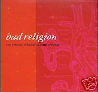 CD PROMO BAD RELIGION THE PROCESS OF BELIEF A SONIC PR.