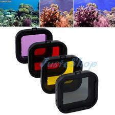 4 Colors Underwater Sea Diving Lens Filter For GoPro Hero3+/3 Plus HERO4 Camera