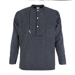 Fischerhemd BasicLine Finkenwerder-Stil mit breiten Streifen blau/weiss