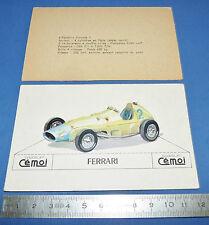 CHROMO 1950-1959 CHOCOLAT CEMOI DECOUPAGE AUTOMOBILE AUTO FERRARI SQUALO F1