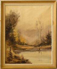 Carlo ELSIUS *1921 » Stimmungsvolle Seenlandschaft «