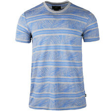 Men's Tropical Style Floral Pattern Sweat Wicking Contrast Short Sleeve T-shirts