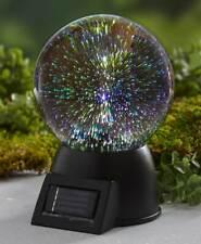 Solar Powered 3-D Firework Effect Glass Garden Gazing Ball with Base