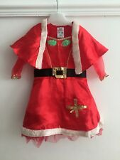 Girls Mrs Santa Claus Christmas Dress Age 1-2 Years Fancy Dress Party Outfit