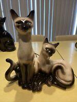Vintage Lane & Co Siamese Cat & Kitten Lamp