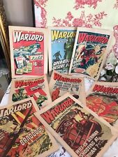 Joblot of 8 Vintage WARLORD Comics 1974 - 1975 War Themed Boys Comic Books