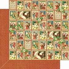 Graphic 45 2 sheets St Nicholas collection Christmas Cheer, double sided
