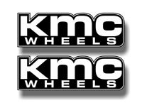 "2 KMC Wheels Vinyl 9"" Decals Chevy Ford F150 Toyota Black JDM XD Series Stickers"