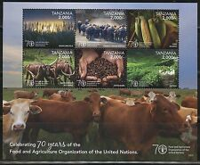 TANZANIA 2016 70th  ANN FOOD & AGRICULTURE ORG OF THE UNITED NATIONS SHT MINT NH