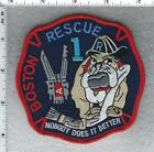 Boston Fire Department (Massachusetts) Rescue 1 Red Shoulder Patch