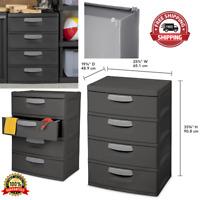 Storage Unit 4 Drawer Durable Organizer Garages Basements Heavy Duty Utility NEW