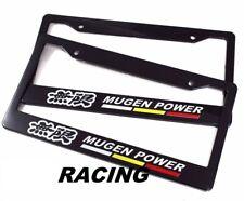 x2 MUGEN POWER Racing License Plate Frame For All Honda Model Universal Fitment