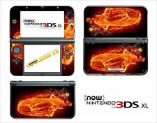 SKIN STICKER AUTOCOLLANT - NINTENDO NEW 3DS XL - REF 132 FLAME CAR