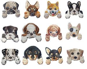 Various Dog Cute Puppy Iron On Patches sew on transfer Pug Corgi Bulldog Terrior