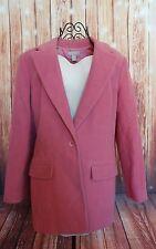 Nordstrom Lined Wool BlazerJacket Pink Mauve Women's Size 8P