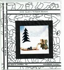Jean M Campbell Pieced Quilt Block Dog Sled Pattern Alaska