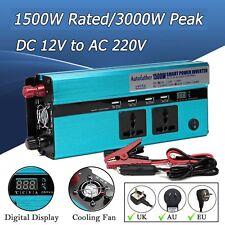 Car Power Inverter Converter Battery 3000W Peak 220V for Electric TV PC MP3 DVD