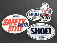 LOT 1980s Vintage Old School Shoei Helmets BMX Sticker Decal Yamaha Motorcycle