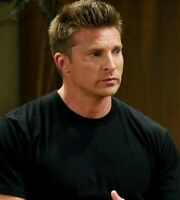 GENERAL HOSPITAL/STEVE BURTON/JASON/SCREEN WORN WARDROBE BLACK T-SHIRT