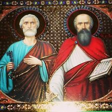 RUSSIAN CHRISTIAN ICON, ST. APOSTLES PETER AND PAUL