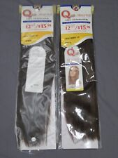 """2X QUE YAKY WEAVE BY MILKYWAY 100% HUMAN HAIR STRAIGHT 12"""" EXTENSION P1B/33"""
