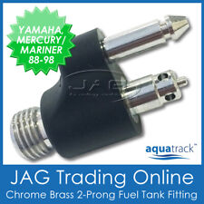 CHROME BRASS FUEL TANK END FITTING YAMAHA & MERCURY/MARINER - Boat/Outboard Line