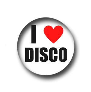 I LOVE DISCO PIN BADGE (1 inch / 25mm) CHEAP POSTAGE FOR BULK BUYS