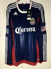 Adidas Authentic MLS Long Sleeve Jersey C.D. Chivas USA Team Navy sz XL
