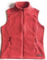 Vineyard Vines Fleece Vest Women's Medium Pink Full Zip Whale EUC