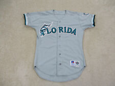 VINTAGE Florida Marlins Baseball Jersey Adult Large Gray Game Used Mens 90s A101