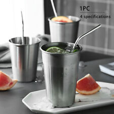 1pcs Water Drinking Unbreakable Mug Stainless Steel Juice Stackable Beer Cup